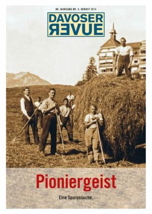Davoser Revue – Ausgabe Pioniergeist, Titelbild