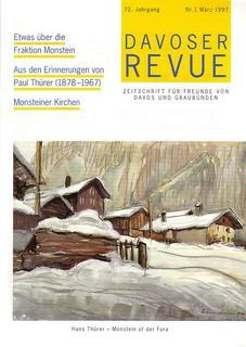 Davoser Revue – Ausgabe 1 1997, Titelbild