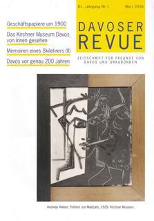 Davoser Revue – Ausgabe 1 2006, Titelbild
