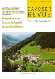 Davoser Revue – Ausgabe 3 1998, Titelbild