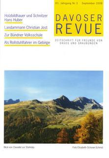 Davoser Revue – Ausgabe 3 2008, Titelbild
