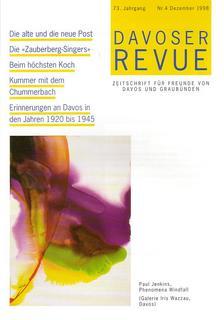 Davoser Revue – Ausgabe 4 1998, Titelbild